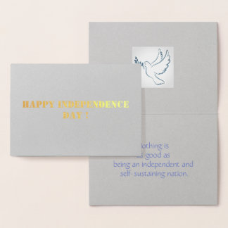 Independence day foil card