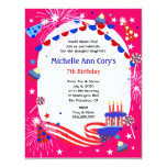 Independence Day Girl's Birthday Party Invitation