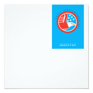 Independence Day Greeting Card-American Bald Eagle 13 Cm X 13 Cm Square Invitation Card