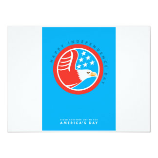 Independence Day Greeting Card-American Bald Eagle 17 Cm X 22 Cm Invitation Card