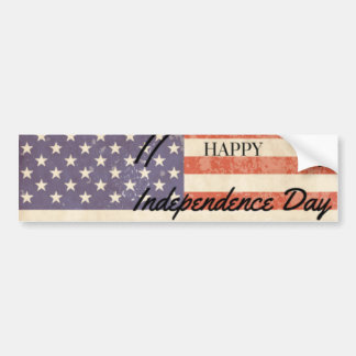 Independence Day - Happy 4th (fourth) July Bumper Sticker