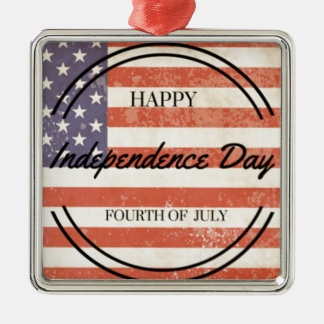 Independence Day - Happy 4th (fourth) July Christmas Ornament