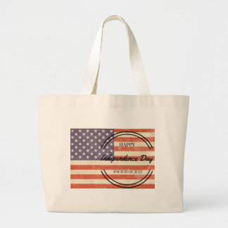 Independence Day - Happy 4th (fourth) July! Large Tote Bag