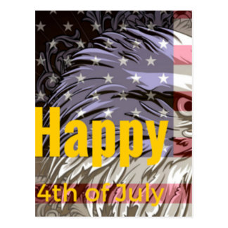 Independence Day - Happy 4th (fourth) July Postcard