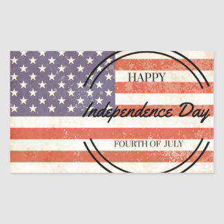 Independence Day - Happy 4th (fourth) July Rectangular Sticker