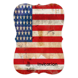 Independence Day & July 4 vintage american flag 13 Cm X 18 Cm Invitation Card