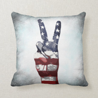 Independence Day July 4th Peace Pillow