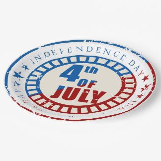 Independence Day July 4th usa Paper Plate