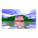 Independence Day Land - Business size Business Card Template