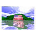Independence Day Land - Chubby size Business Card