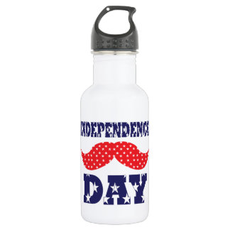 Independence Day Moustache 532 Ml Water Bottle