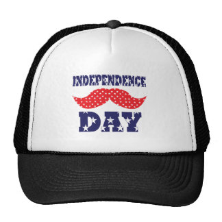 Independence Day Moustache Cap