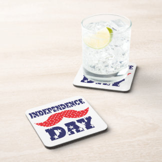 Independence Day Moustache Drink Coasters