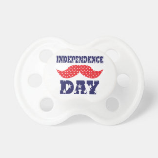 Independence Day Moustache Baby Pacifier