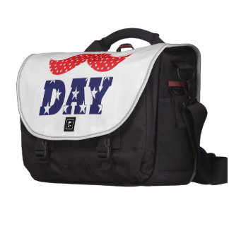 Independence Day Moustache Laptop Commuter Bag