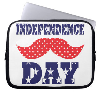 Independence Day Moustache Laptop Sleeve