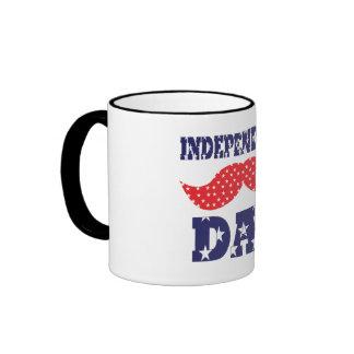 Independence Day Moustache Mug