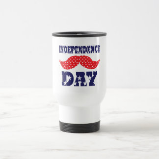 Independence Day Moustache Mugs