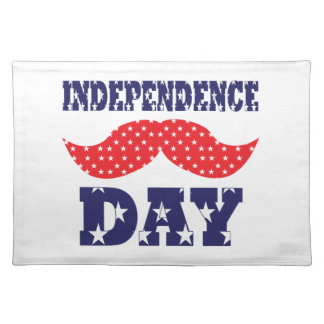 Independence Day Moustache Place Mats