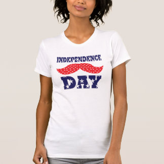 Independence Day Moustache T Shirt
