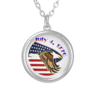 Independence Day Round Pendant Necklace