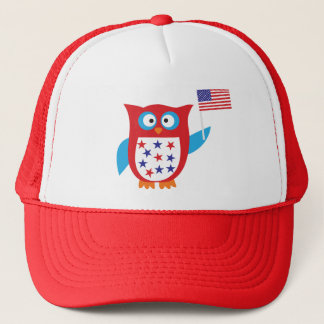 Independence Day Owl Trucker Hat