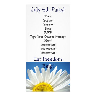 Independence Day Party! July 4th Party Invitations Customized Photo Card