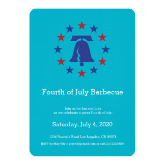"""Independence Day Party Liberty Bell Invitation 5"""" X 7"""" Invitation Card"""