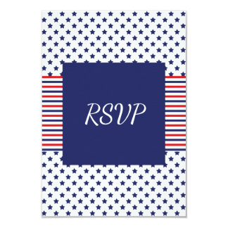 Independence Day Patriotic Wedding RSVP Card