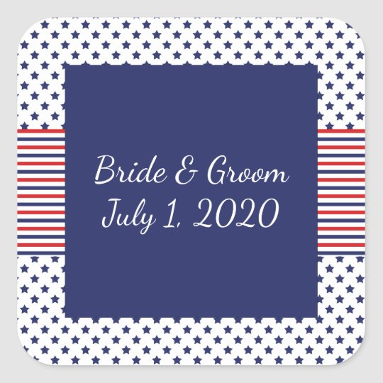 Independence Day Patriotic Wedding Stickers