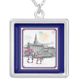 Independence Day Penguins Necklace