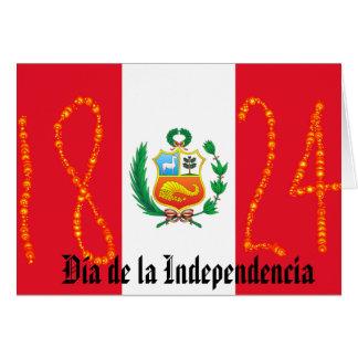 Independence Day Peru Card