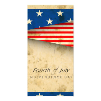 Independence Day Custom Photo Card