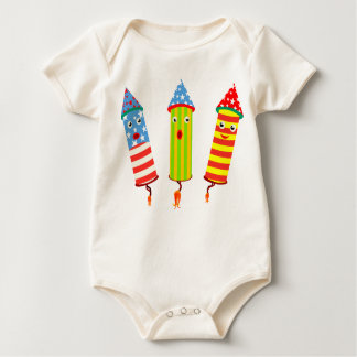 Independence Day Popping Celebration Baby Bodysuit