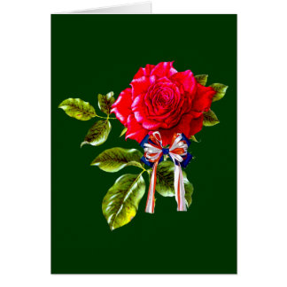 Independence Day Rose Card