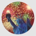 Independence Day! Round Stickers