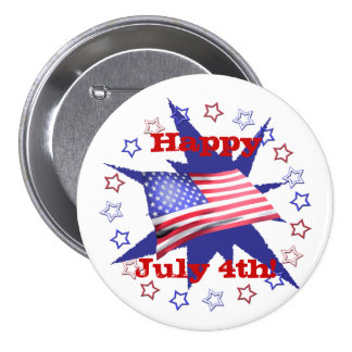 Independence Day Star Circle Buttons