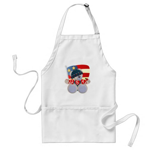 Independence Day Teddy Bear Apron