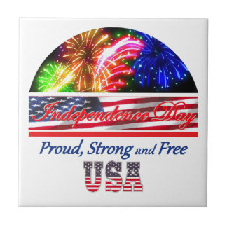 Independence Day Small Square Tile
