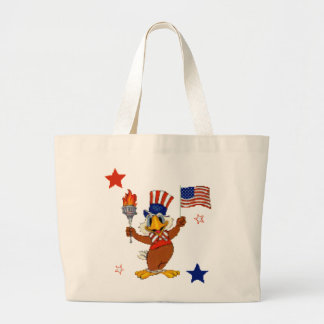 Independence Day Uncle Sam Eagle Jumbo Tote Bag