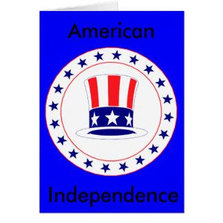 Independence Day Uncle Sam's Hat Card