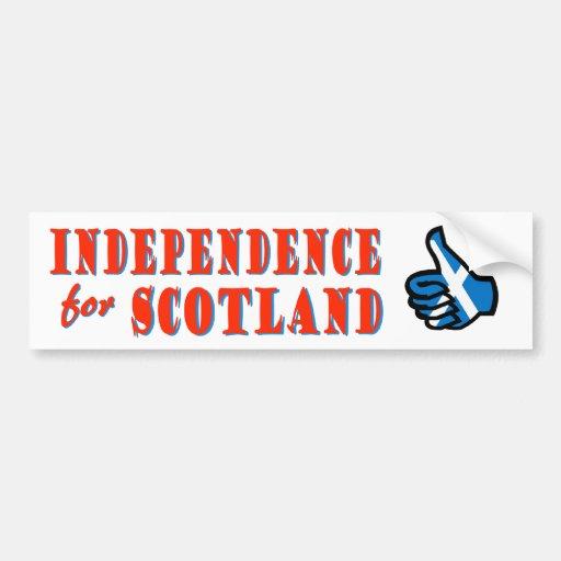 Independence for Scotland Bumper Sticker