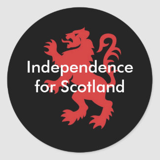 Independence for Scotland Round Sticker