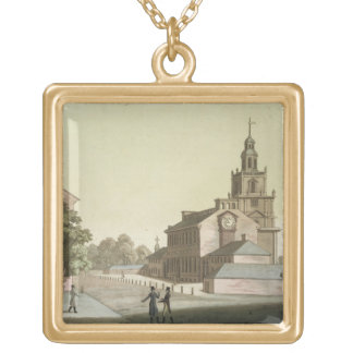 Independence Hall, Philadelphia, Pennsylvania, fro Gold Plated Necklace