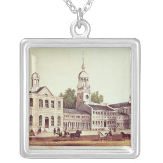 Independence Hall, Philadelphia Silver Plated Necklace