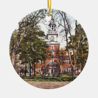 Independence Hall Vintage Philly Pensylvania Christmas Ornament