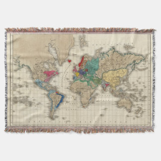 Independence of The United States 1783 AD Throw Blanket