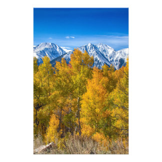 Independence Pass Autumn View Customized Stationery