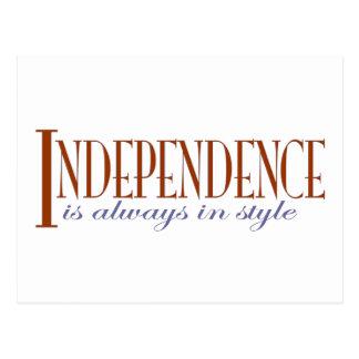 Independence Postcard