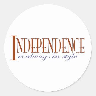 Independence Round Sticker